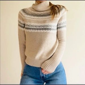 Anthropologie Rue and Willow Tan Knit Cashmere